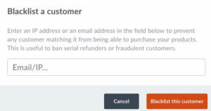 Standard feature for Blacklisting