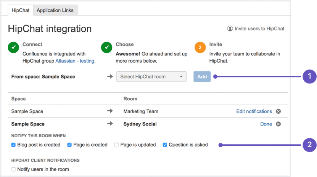 Integration with Hipchat-tekpon review