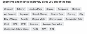 tracking reports feature Improvely