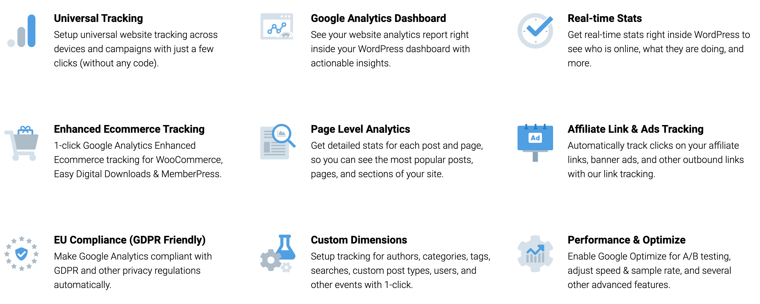 MonsterInsights Features Overview