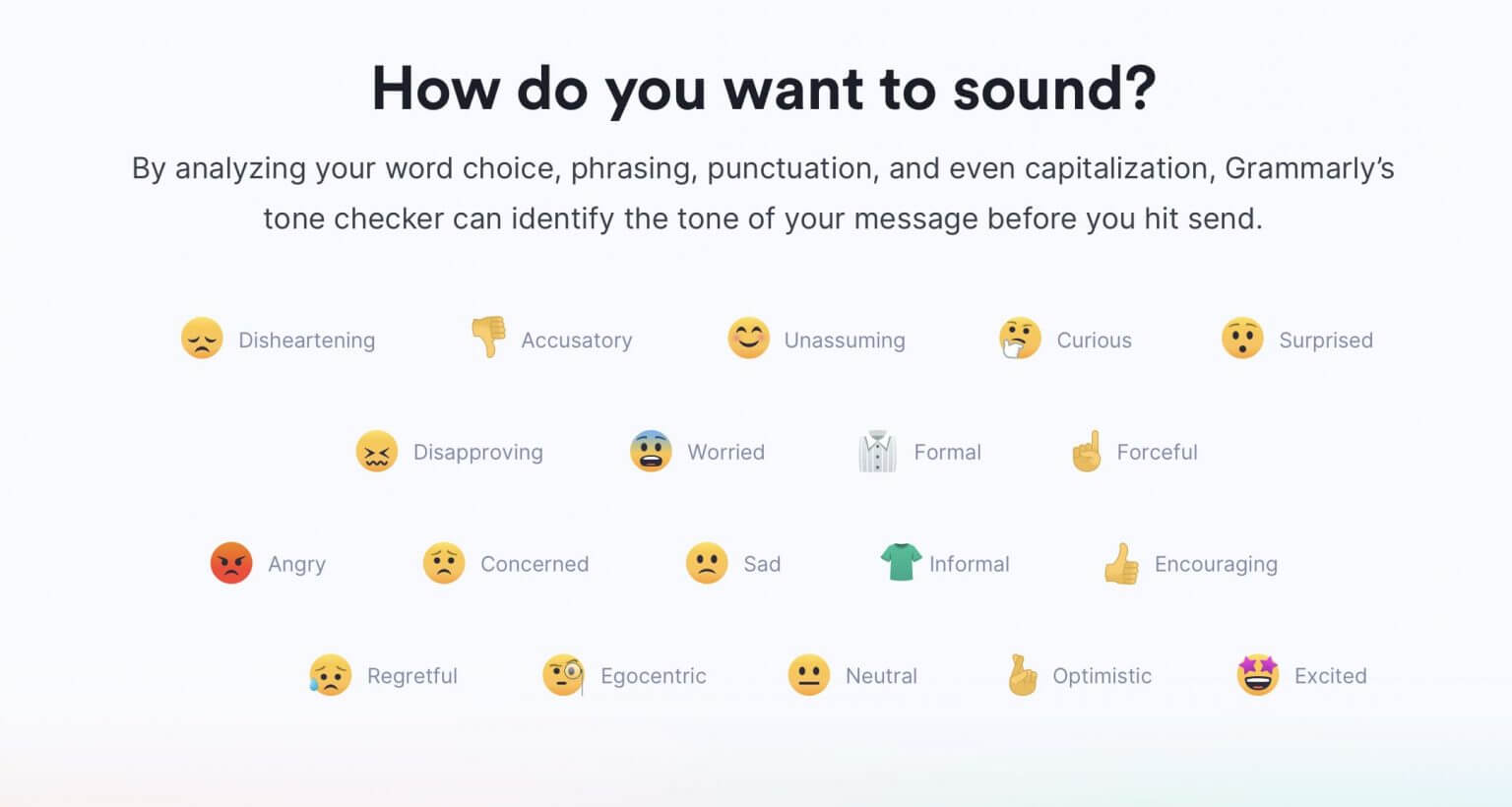 Tone Detector Feature of Grammarly