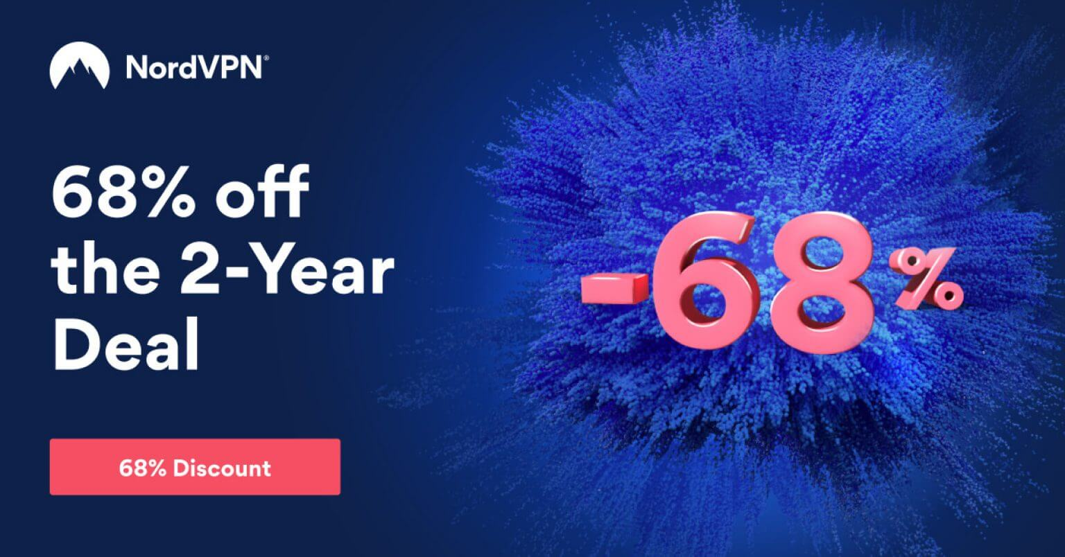 NordVPN Spring Special! 68% off on the 2-year plan + extra service time as a gift
