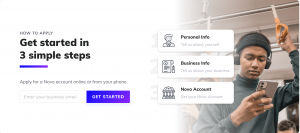 Steps to creating a bank account in Novo startup banking- tekpon reviews