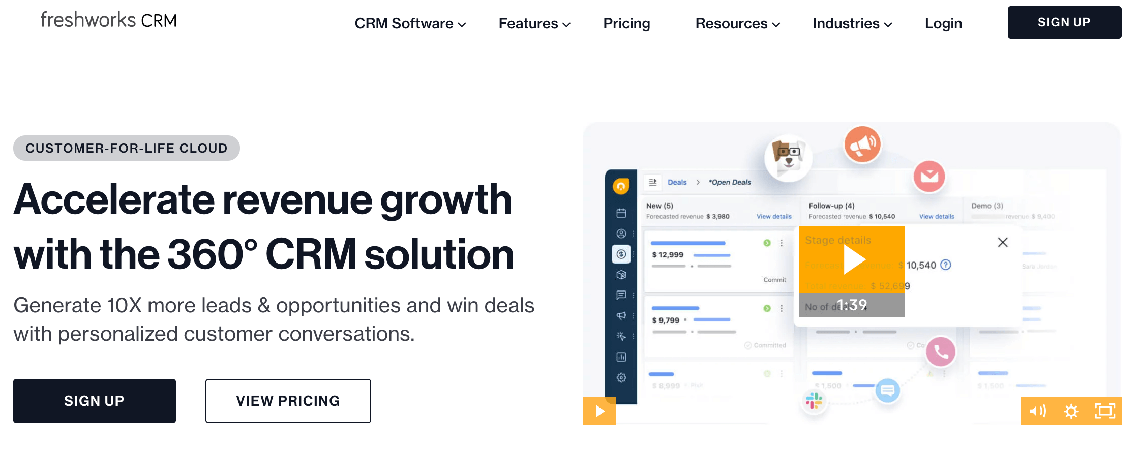 Freshworks CRM Review of Features, Pricing & Alternatives
