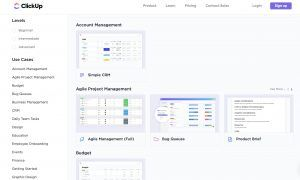 ClickUp templates project management review