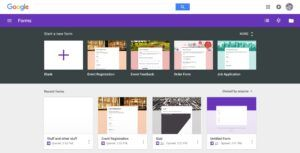 Google Forms Templates